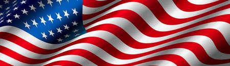 Illustration pour United States Flag Vector - image libre de droit