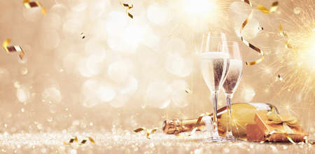 Foto de New years eve celebration background - Imagen libre de derechos