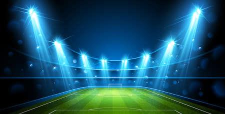 Illustration pour Football arena vector. - image libre de droit