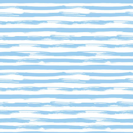 Illustration for Vector seamless pattern with blue brush strokes. Striped pattern inspired by navy uniform. Texture for web, print, wallpaper, home decor or website background - Royalty Free Image