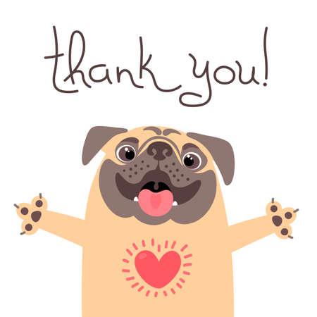 Ilustración de Cute dog says thank you. - Imagen libre de derechos