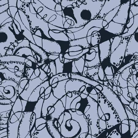Grunge vector abstract hand drawn art texture eamless pattern