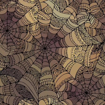 Illustration for Vector decorative spider web pattern - Royalty Free Image