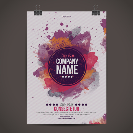 Ilustración de Vector template poster - Imagen libre de derechos
