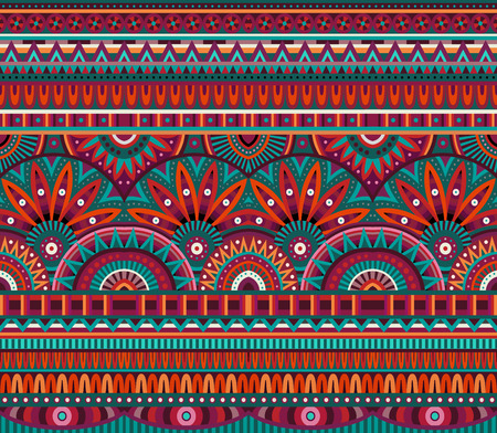 Illustration for tribal ethnic background seamless pattern - Royalty Free Image