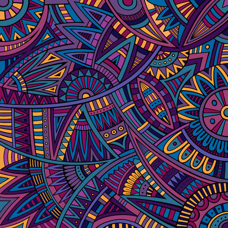 Illustration for Abstract vector tribal ethnic background pattern - Royalty Free Image