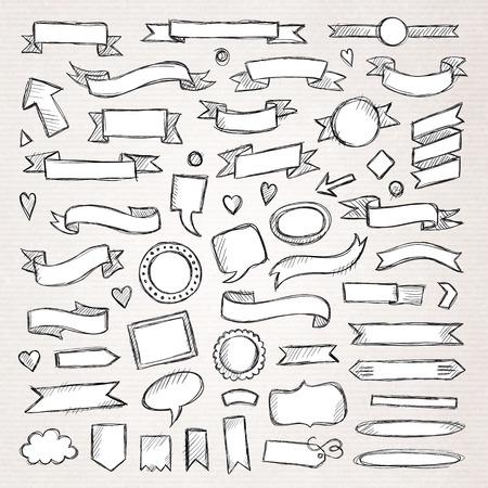 Ilustración de Hand drawn sketch hand drawn elements. Vector illustration. - Imagen libre de derechos