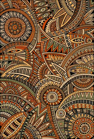 Illustration pour Abstract vector tribal decorative ethnic background pattern - image libre de droit