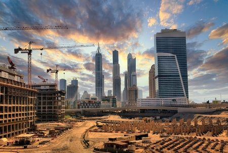 Photo pour Grandiose construction in Dubai, the United Arab Emirates - image libre de droit