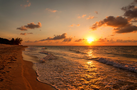 Photo for Beach at sunset, Varadero, Cuba - Royalty Free Image