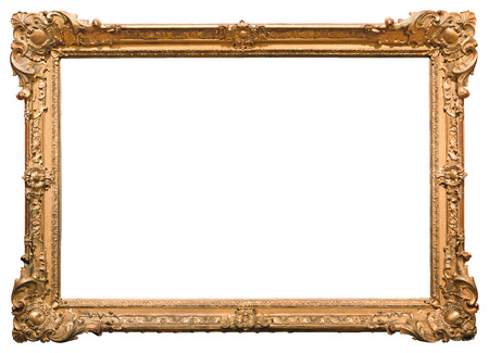 Photo pour Gold picture frame. Isolated on white background - image libre de droit