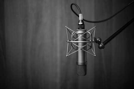 Photo for Tube microphone, professional microphone, recording studio, tv, song, sound, voice, studio, singer - Royalty Free Image