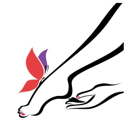 Ilustración de hand and foot, body care, vector illustration - Imagen libre de derechos