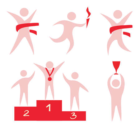 Illustration for sport, competition, victory icons set of symbols - Royalty Free Image