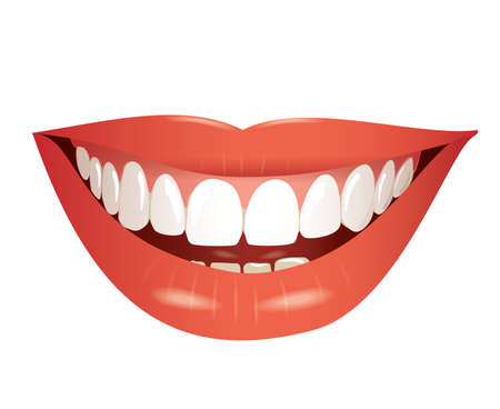 Illustration pour smiling mouth isolated photo-realistic  - image libre de droit
