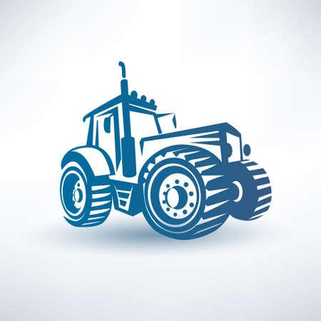 Illustration pour modern tractor vector symbol - image libre de droit
