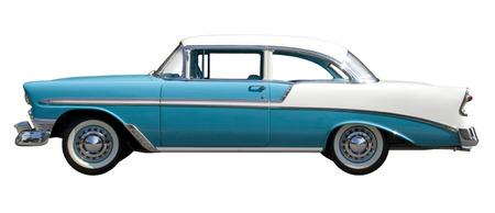 Foto de Aqua Bel-Air Vintage Automobile isolated against White Background - Imagen libre de derechos