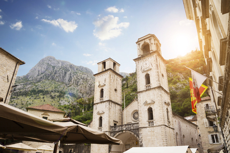Photo for Montenegro, Kotor, Cathedral of St. Tryphon, cityscape. - Royalty Free Image