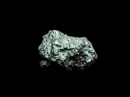 Photo pour macro silver ore from silver mining , Precious stone - image libre de droit