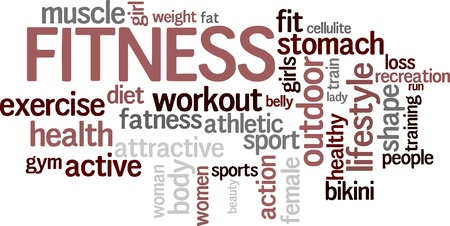 Fitness word cloud background