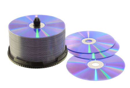 Photo for stacks of CD or DVD - Royalty Free Image