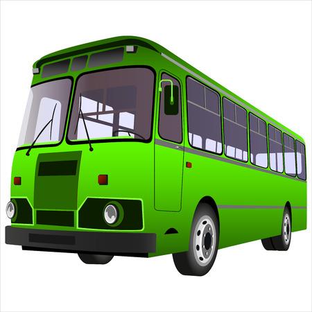 Ilustración de passenger bus for transportation of people on a white background - Imagen libre de derechos