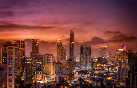 Photo for abstract twilight time and cirtscape of dowtown - can use to display or montage on product - Royalty Free Image