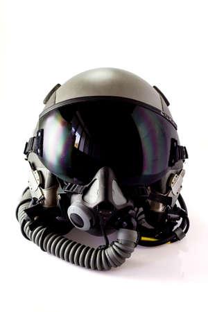 Foto de Aircraft helmet or Flight helmet with oxygen mask - Imagen libre de derechos