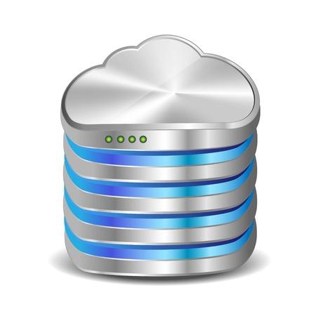 Illustration pour Illustration of a cloud server - image libre de droit
