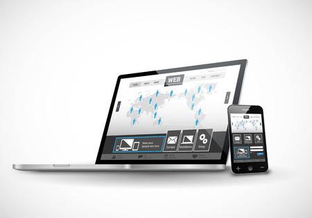 Illustration pour Responsive Web Design - image libre de droit