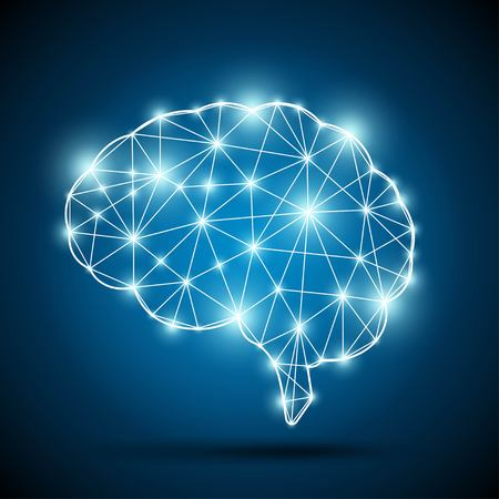Illustration pour Brain of an artificial intelligence - image libre de droit