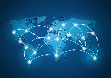Illustration pour Global network connection background - image libre de droit