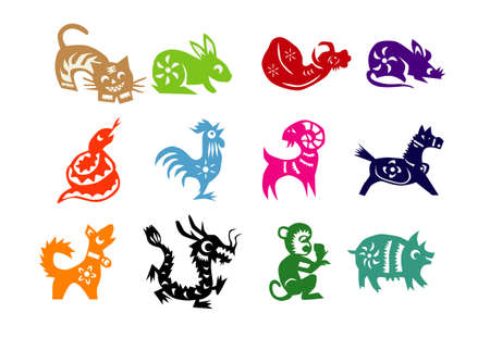 Illustration for Animals of Chinese Calendar - Royalty Free Image
