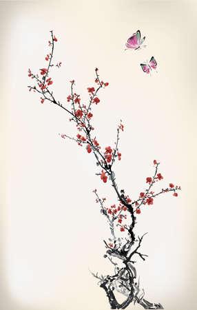 Illustration pour ink winter sweet - image libre de droit
