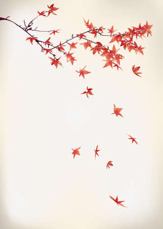 Illustration for maple leaves - Royalty Free Image