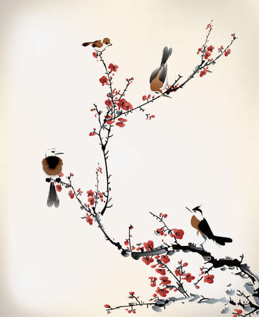 Illustration pour bird painting - image libre de droit