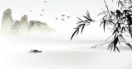 Illustration pour Chinese painting  - image libre de droit