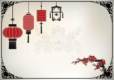 Illustration pour Chinese Lantern - image libre de droit