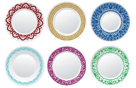 Ilustración de Chinese porcelain plate - Imagen libre de derechos