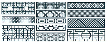 Illustration pour decor pattern collections - image libre de droit