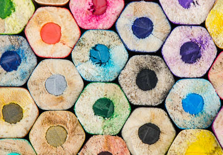Photo for Colour pencils background - can use for background. - Royalty Free Image