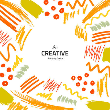 Illustration for Brushes-yellow-creative - Royalty Free Image