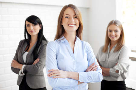 Foto de Team of happy businesswomen - Imagen libre de derechos