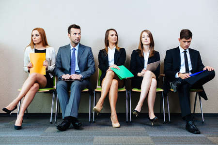 Photo for Business people waiting for job interview - Royalty Free Image