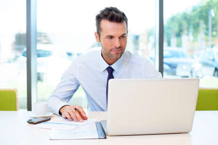 Photo for Man working at the office on laptop - Royalty Free Image