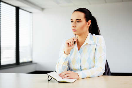 Photo for HR specialist focusing before her first job interview - Royalty Free Image