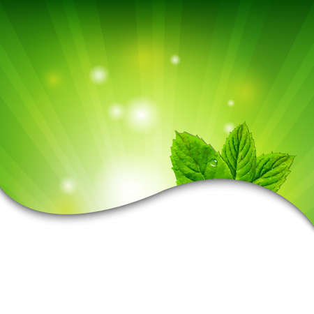 Ilustración de Green Wall With Green Leaves With Gradient Mesh, Vector Illustration - Imagen libre de derechos