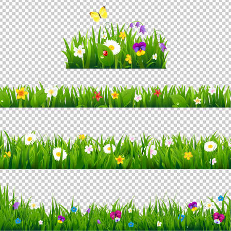 Illustration pour Big Set Flowers Borders Gradient Mesh, Vector Illustration - image libre de droit