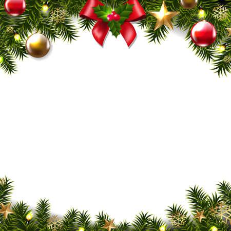 Illustration pour Christmas border design. - image libre de droit