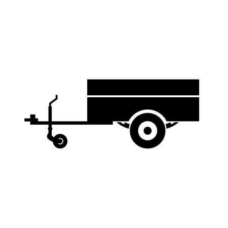 Illustration pour Towed utility trailer icon - image libre de droit
